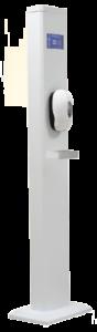 columna deteccion de temperatura y desinfeccion de manos